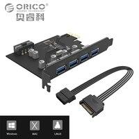 ORICO 4 Port USB3 0 PCI E Riser Host Controller Card 3 0 Adapter To USB