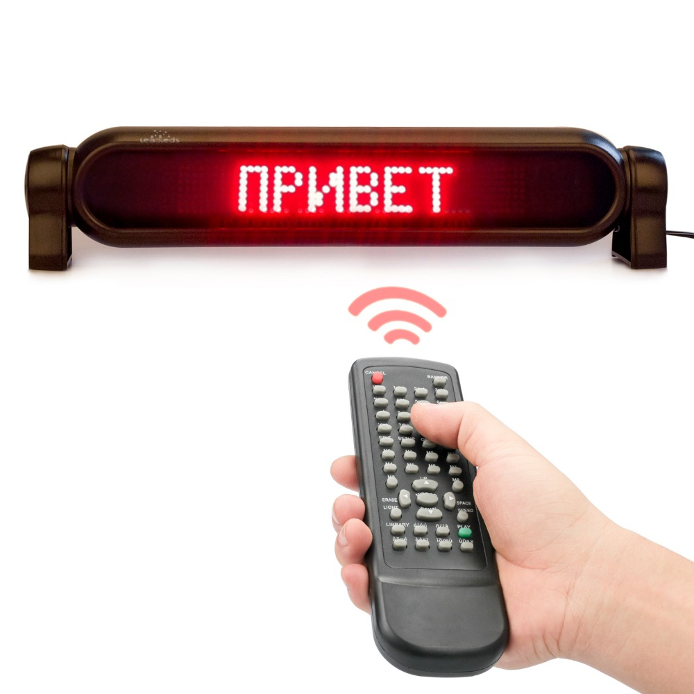 12V <font><b>LED</b></font> <font><b>car</b></font> Electronic Sign Programmable Remote Control Mirror Text <font><b>LED</b></font> Display Panel Rolling Red <font><b>Message</b></font> Support Multi-Language image