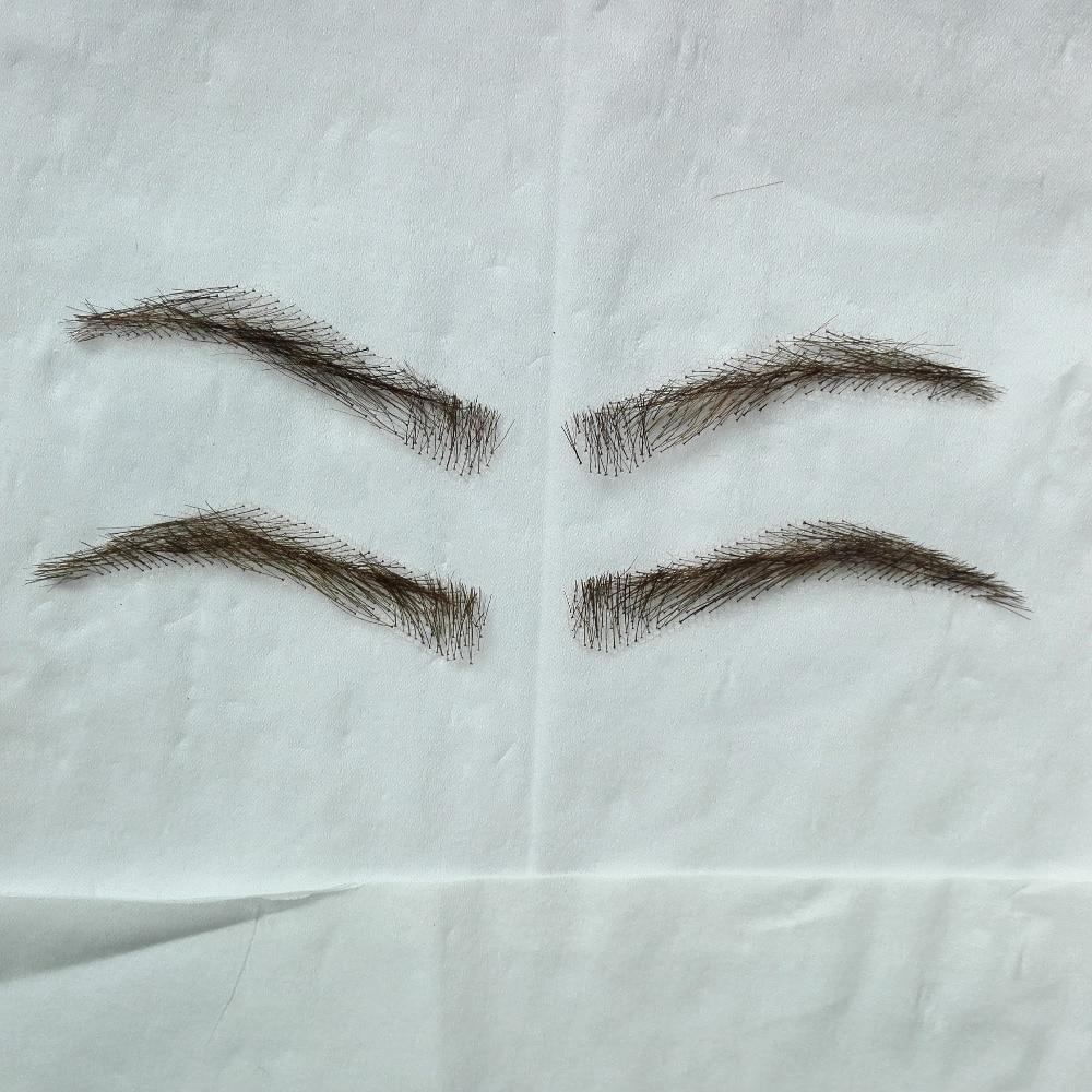 Wholesale Hand Made Human Hair Hand Knot Fake Eyebrows Handmade