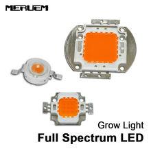 Hydroponic 1W/3W 10W/30w /50W/100w Led Grow light Chip Epistar Bridgelux chip full spectrum 400nm-840nm for indoor plant grow