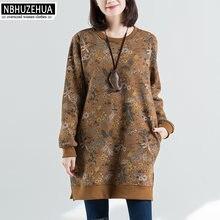 421f9a0949e Nbhuzehua t923 4xl 5xl de las mujeres más tamaño vintage hoodies sudadera  Tops pullovers blusa 4xl 5xl