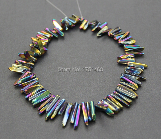 Freeshipment mystic titanium rainbow crystal quartz point pendant mystic titanium rainbow crystal quartz point pendant polished top drilled crystal point beads rock mozeypictures Image collections