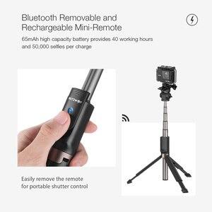 Image 4 - BlitzWolf bluetooth trépied tenu dans la main Selfie bâton extensible monopode pour Gopro 5 6 7 1/4 caméra de sport pour Huawei Smartphones