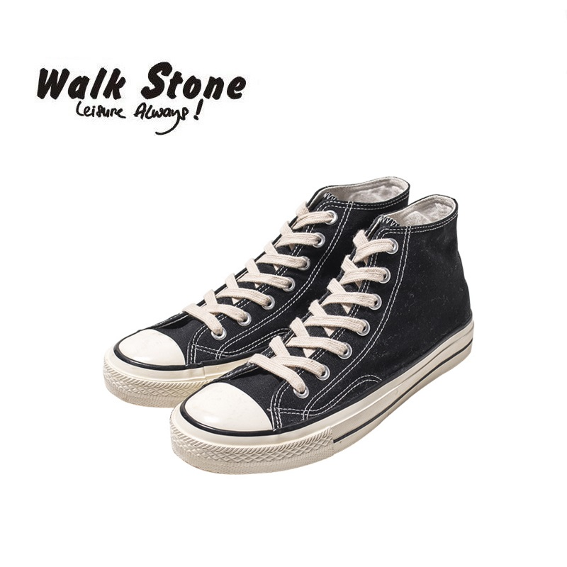 Walk Stone Casual Original Men Vulcanize Shoes Cool Punk Simple Lace-Up High Top Denim Canvas Shoes For Male Comfort Flats Tenis 2016 hot men s high top canvas shoes lace up men british fashion casual shoes adults denim cool student