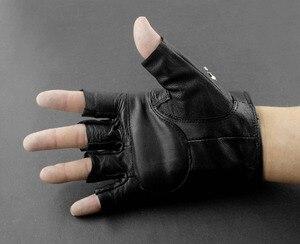 Image 2 - Gants sans doigts de motard en cuir pour hommes