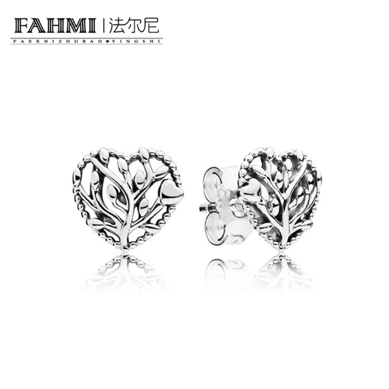 FAHMI 100% 925 St0erling Silver Authentic New Love Tree Charm Earrings Temperament Original Women Jewelry Factory Direct Sales 0