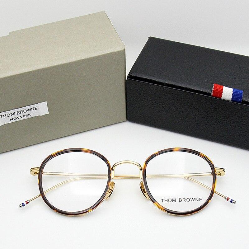 Di alta qualità rotonda a forma di TB905 In Acetato occhiali cornice Retro occhiali da vista Con Il caso Originale di miopia lettura di Occhiali Oculos