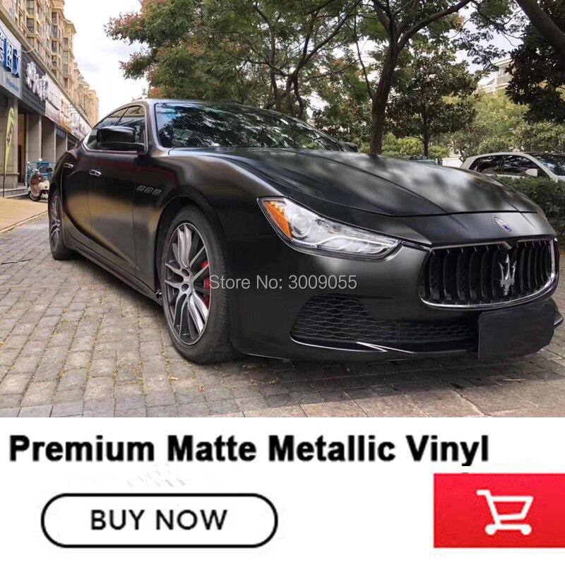 Qualité supérieure emballage de voiture en Vinyl Film D'emballage Pour L'emballage De Véhicule Vinyle métallique mat Diverses couleurs Facilement repositionné taille 1.52 m X 20 m
