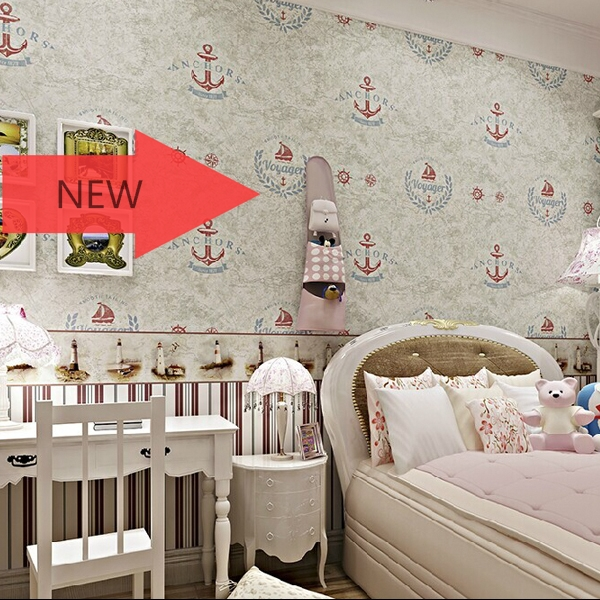British map of Mediterranean sailing thickening non-woven wall stickers boy children room bedroom warmth TV background wallpaper