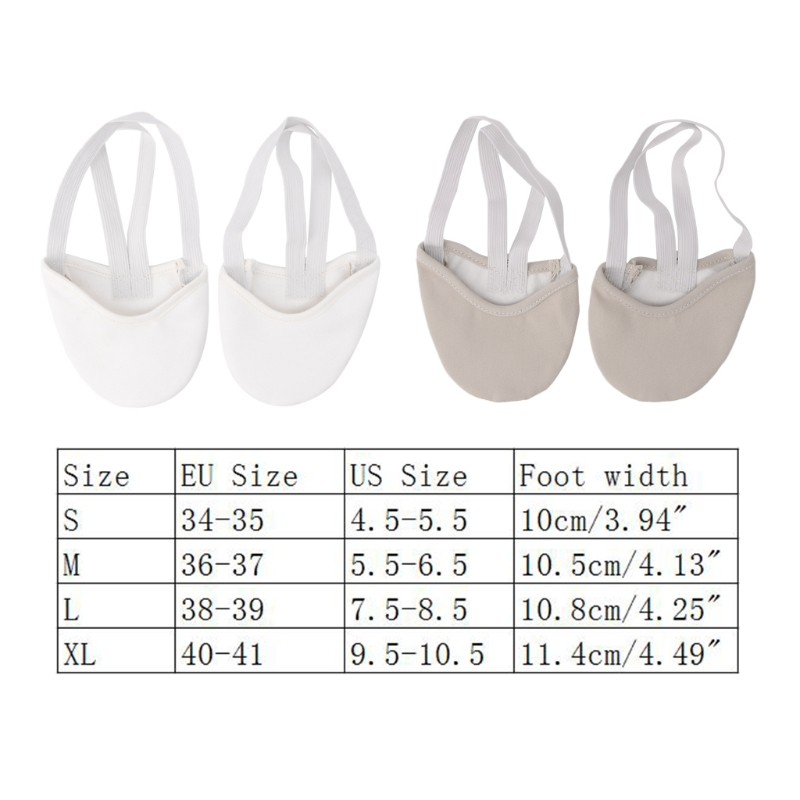 New 1 Pair Rhythmic Gymnastics Shoes Half Faux Leather Sole Ballet Pointe Elastic Dance Shoes Art Gym Accessories