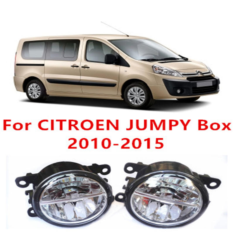 For CITROEN JUMPY Box 2010-2015 Fog Lamps LED Car Styling 10W Yellow White 2016 new lights manai распашонка