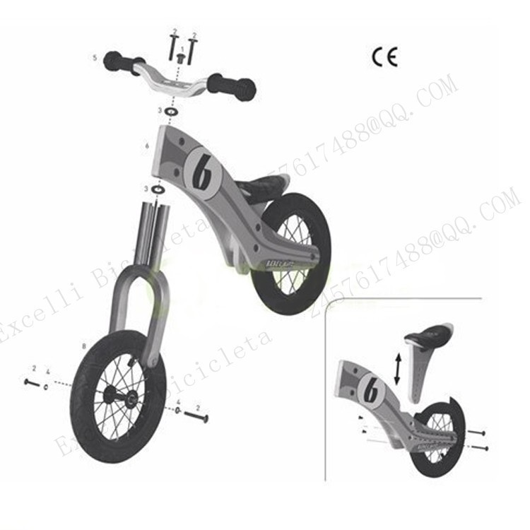 b28-Baby two wheels Wood Balance Bike for 2-6 Years age Bicicleta Infantil Balance Bike Kid's bicycle Common Childen's Cycling