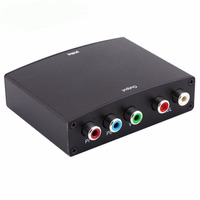 High Quality 1080P HDMI to YPbPr Component Cable RGB Video Conversor +R/L Audio Adapter Amplifier Converter for HD TV PC