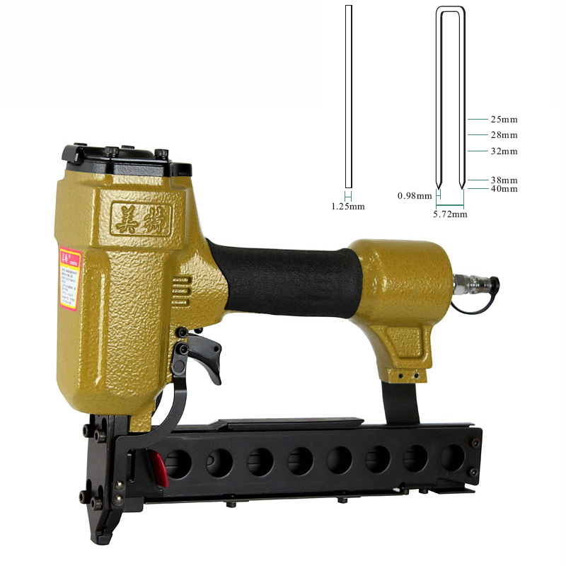 Quality meite 440K U-type Pneumatic Nail Gun Air Stapler Gun Nailer Tools 25-40mm for Making Furniture / Sofa high quality 425kl u type pneumatic nail gun air stapler tools pneumatic brad nailer gun 16 25mm