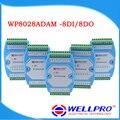8DI/8DO _ Digital input and output module/Оптронной развязкой/RS485 MODBUS RTU связи WP8028ADAM Wellpro