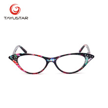 Reading Glasses Women Clear Men Cat Eye Style with Case Contacts Lentes De Contacto Rhinestone 1.5