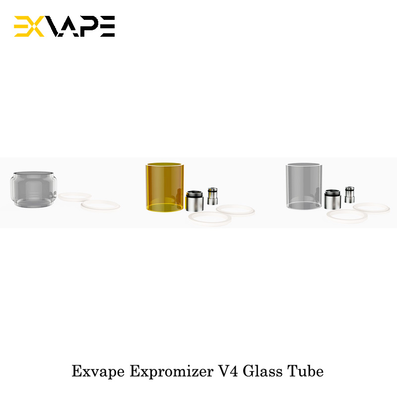 Electronic Cigarette Exvape Expromizer V4 MTL RTA Glass Tube Bubble/Acrylic/Pyrex Glass Tube 4ML Capacity For Expromizer V4 Vape