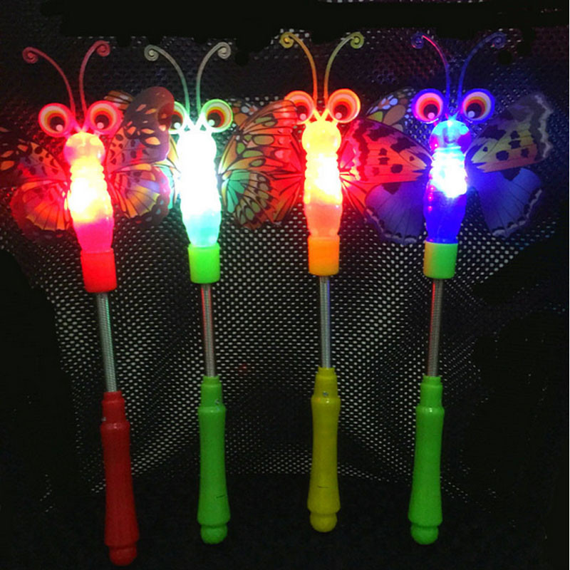 New Fashion Children Girls Princess Led Light Up Butterfly Magic Wand Sticks Flashing Glowing Sticks Party Cosplay Costume Props Halloween Costume Props Costumes & Accessories