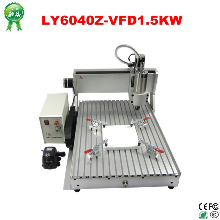 China wholesale mini 3 axis CNC 6040 router machine for aluminium with 1.5KW spindle (7)