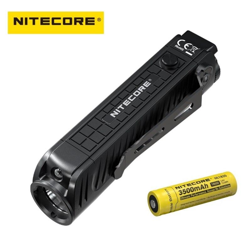 Nitecore P18 lampe de poche LED Unibody Die-case futuriste CREE XHP35 HD 1800 Lumens lampe de poche tactique avec lumière rouge auxiliaire