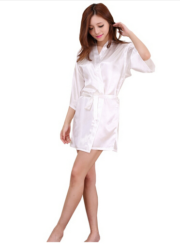 Short Satin Touch Night Gown  2