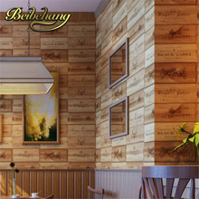 Beibehang papel de parede. Caja de Vino caja de madera pvc 3D Retro Vintage Decorativo A Cuadros Zakka pared de fondo wallpaper for living