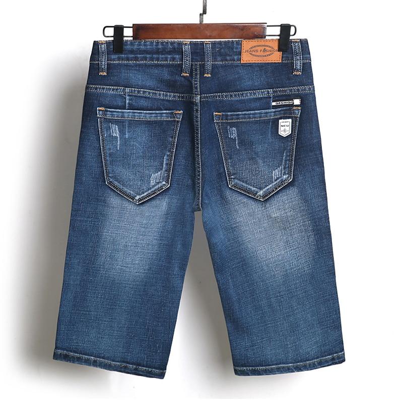KSTUN Summer Shorts Jeans for Men New Arrivals Elastic Blue Scratched Fashion Pockets Denim Shorts Jeans Man Slim Fit Casaul Shorts 18