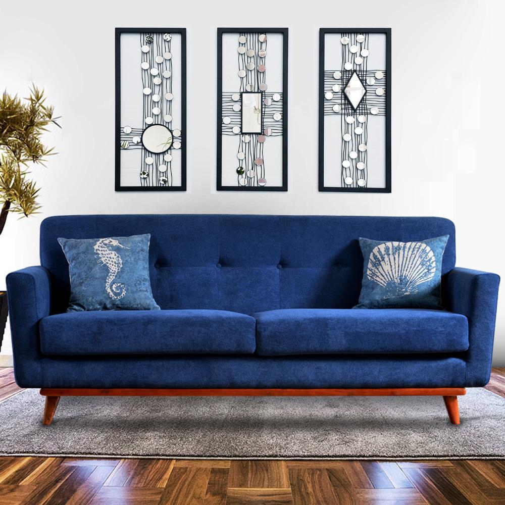 Metal wire wall panel art mirrored wall decor framed wall art W ...