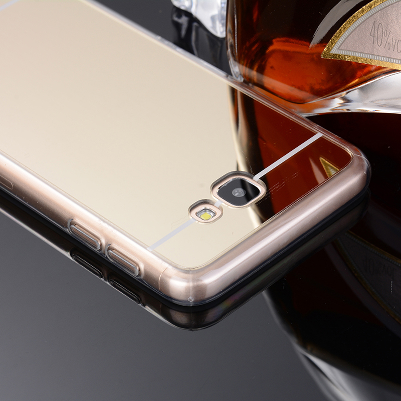 For Samsung J7 Prime case Silicone Anti shock Soft TPU frame Electroplating mirror back cover Phone cases For Samsung G610 in Phone Bumpers from Cellphones Telecommunications