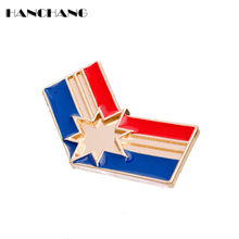 HANCHANG Ms. Marvel Carol Danvers Brooch enamel pin cosplay jewelry brooches for women accessories broche(China)