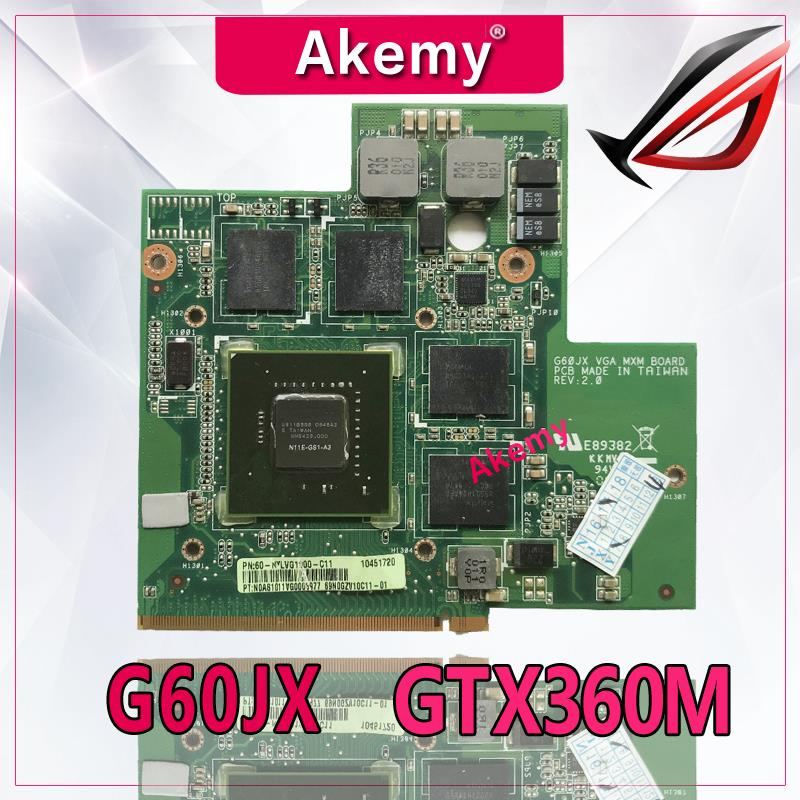Akemy High quality For Asus G60JX VGA CARD Graphic Card N11E-GS1-A3 GTS360M GTX360M 1GB 100% Tested Fast Ship