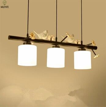 Nordic modern pendant lights bird Luminaire three head loft bar restaurant bedroom living room hanging light fixtures