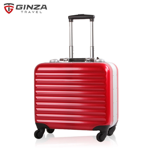 Ginza Travel 17 inch computer carry on luggage Suitcase CHEAP luggage red black small trolley case