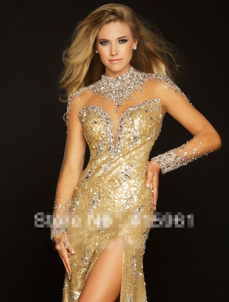 Abendkleider mit gold – Abendkleider beliebte Modelle