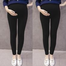 Black Pencil Pants For Pregnant Casual Fashion Maternity Pants All Match Thin Pregnancy Leggings Autumn Women Trousers cheap MUQGEW Korean Cotton Solid 1PC women pants Denim Natural Color