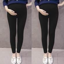2b6ded282a38e6 (Dostawa od US) Czarny ołówek spodnie dla kobiet w ciąży na co dzień spodnie  ciążowe moda wszystko mecz cienkie legginsy jesień kobiety spodnie