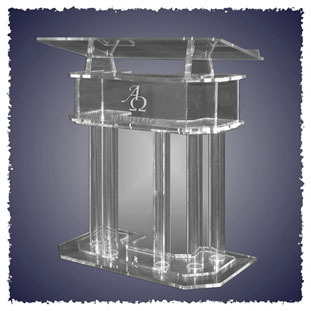 Hot selling/Acrylic Lectern with stands Pulpit Podium Costrum Cattedra church pulpit modeling mixed species forest stands