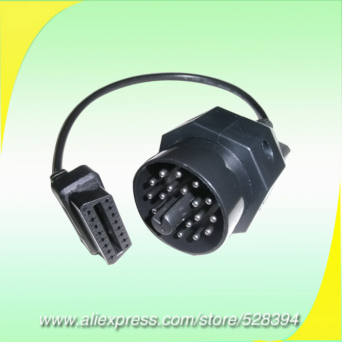 15 off 1pc obd obd ii for bmw 20 pin obd2 adapter. Black Bedroom Furniture Sets. Home Design Ideas