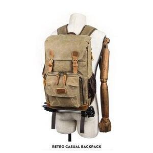 Image 3 - الباتيك قماش حقيبة الكاميرا في الهواء الطلق مقاوم للماء حقيبة متعددة الوظائف حقيبة التصوير لكانون لمعظم حقيبة Slr الرقمية