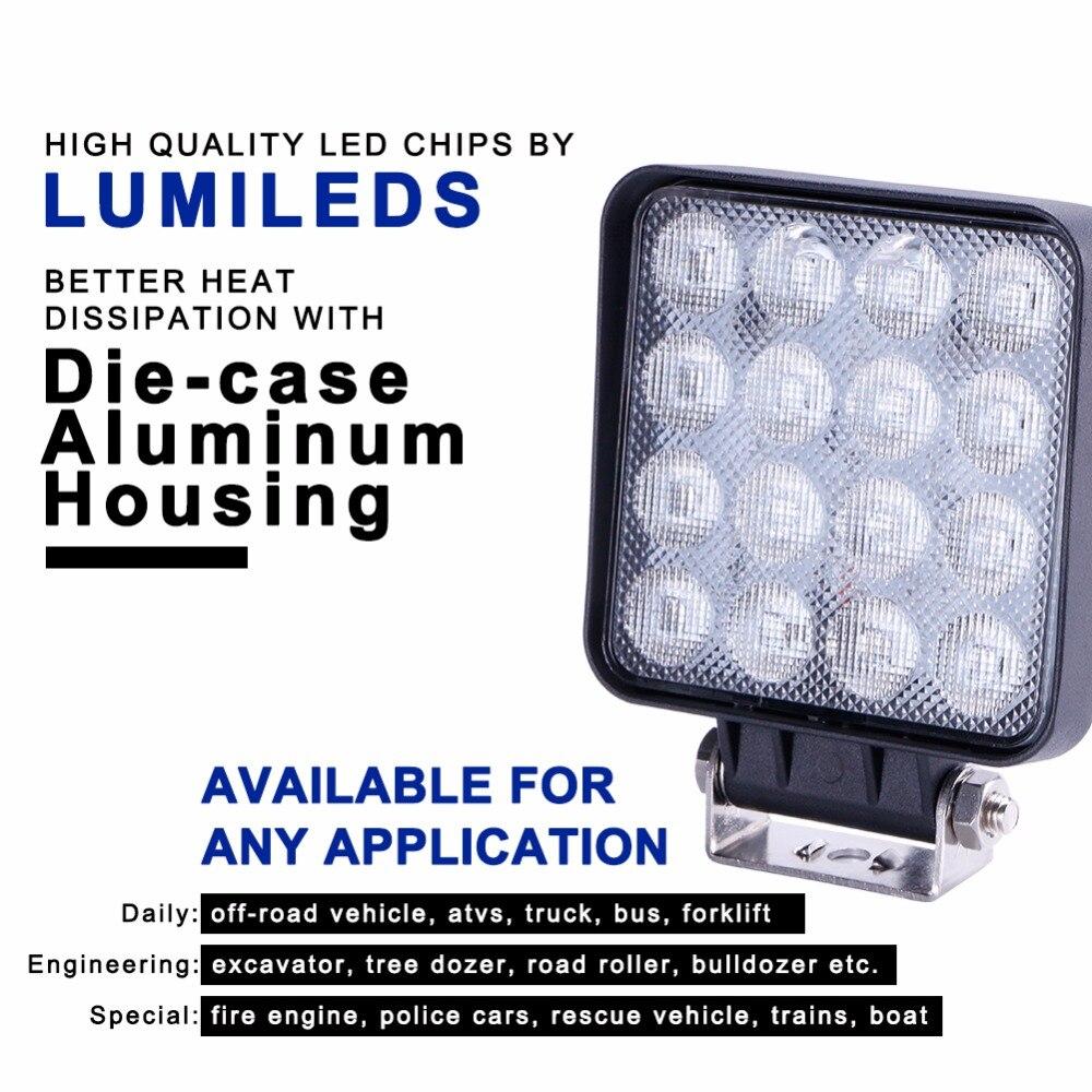 TC-X LED 48W İş İşıq Meydanı LED Daşqın İşıq Bar 4x4 - Avtomobil işıqları - Fotoqrafiya 2