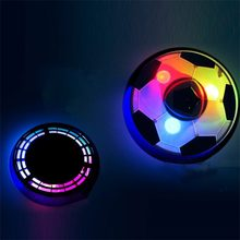18CM Funny LED Light Flashing Ball Air Power Football Toys Boy Home Game Disc Gliding Soccer Stress Indoor Balls Kid Boy Gift(China)