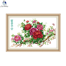 Joy sunday Riches, Honour and Peace Pattern DIY Handmade DMC 14ct 11ct Cross stitch kit nkf Embroidery set Needlework