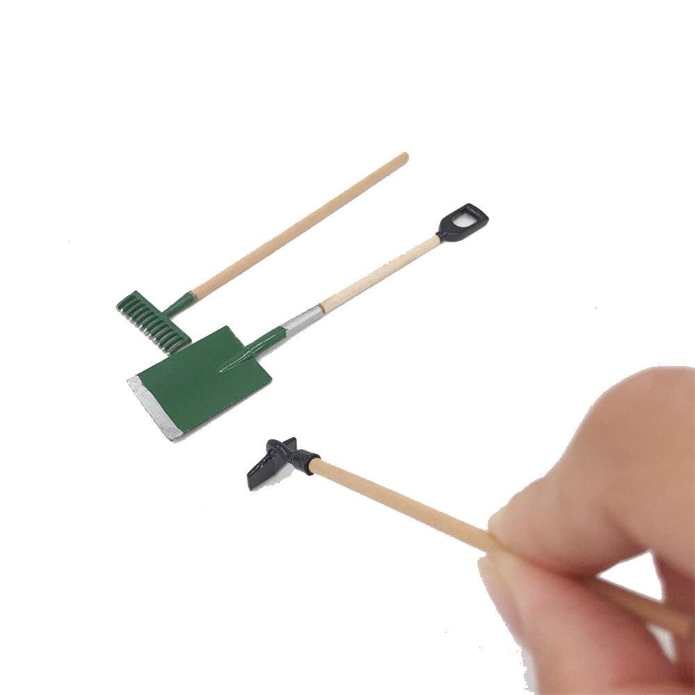 1:12 New Design 3Pcs Iron Art Garden Tools For Miniature Dollhouse Room D.