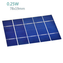 50Pcs 0.25W 78x19mm Solar Panel Kit Polycrystalline Poly DIY Solar Cells
