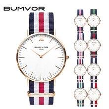 BUMVOR DW Новый стиль часы пару часов Relojes Mujer Montre Femme Нейлон Группа модные женские туфли Для мужчин часы Hombre Relogio Masculino
