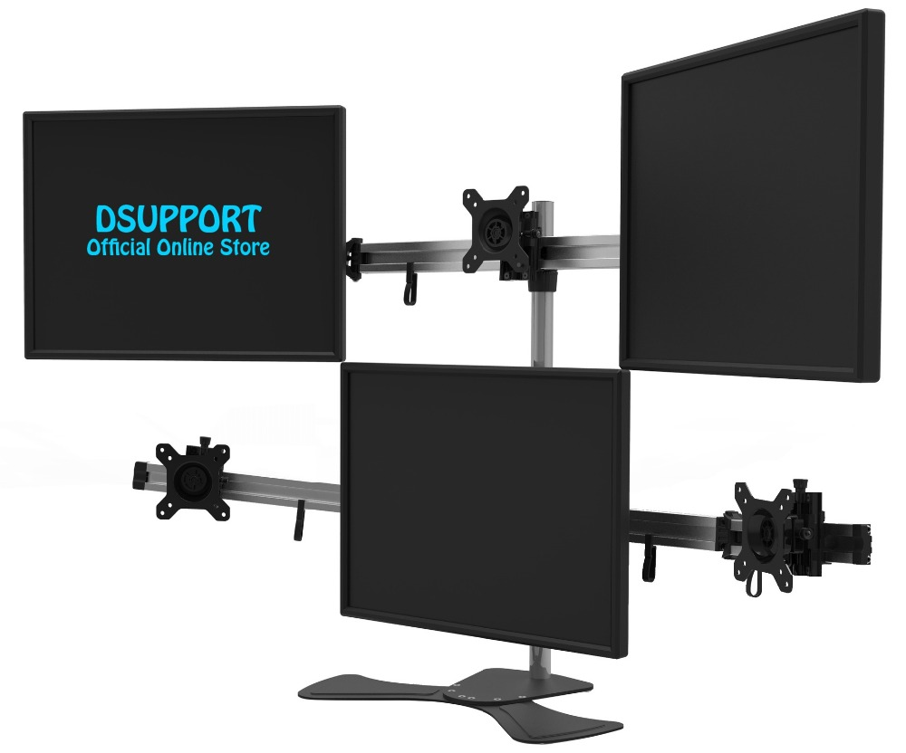 15-27 Aluminum Alloy 6 Screen LCD TV Mount Free Lifting Sliding Full Motion 6 screen Monitor Holder Desktop Stand MP260SL