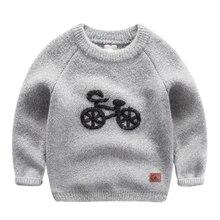 Новый мальчик Корейской зимой свитер шею свитер толстые Плюшевые водолазка свитера зимой детский мультфильм