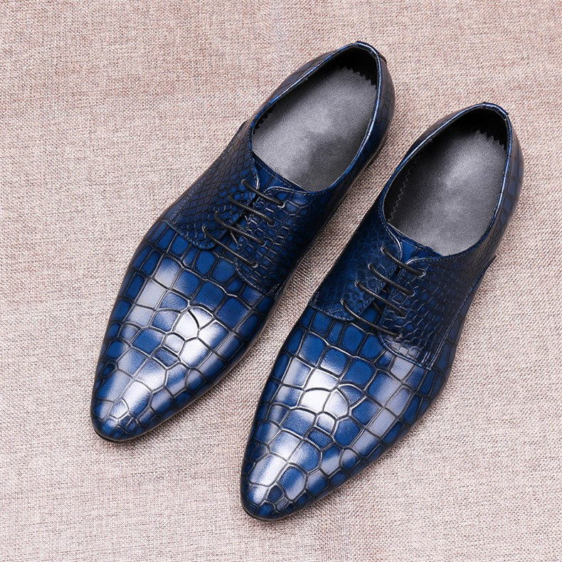 Crocodile Leather Formal Business Shoes for men Flat heel Cow Wedding Party Dress Shoes Size 45Crocodile Leather Formal Business Shoes for men Flat heel Cow Wedding Party Dress Shoes Size 45