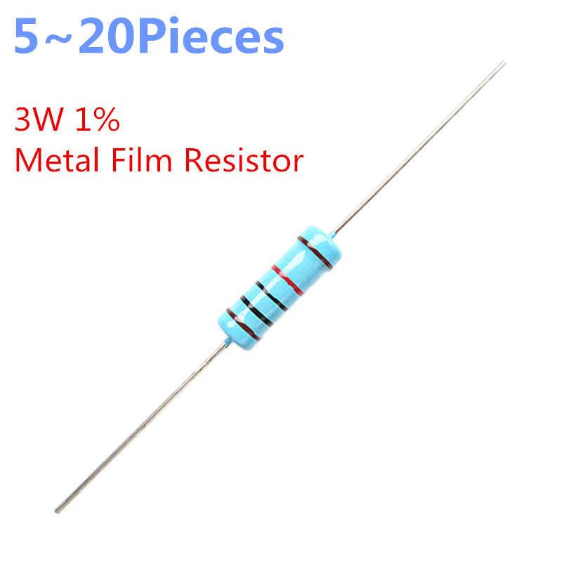 5 ~ 20 stuks/partij 3 W 12 Kohm 1% Radial DIP Metalen Film Axiale Weerstanden 12 K ohm R 3 W