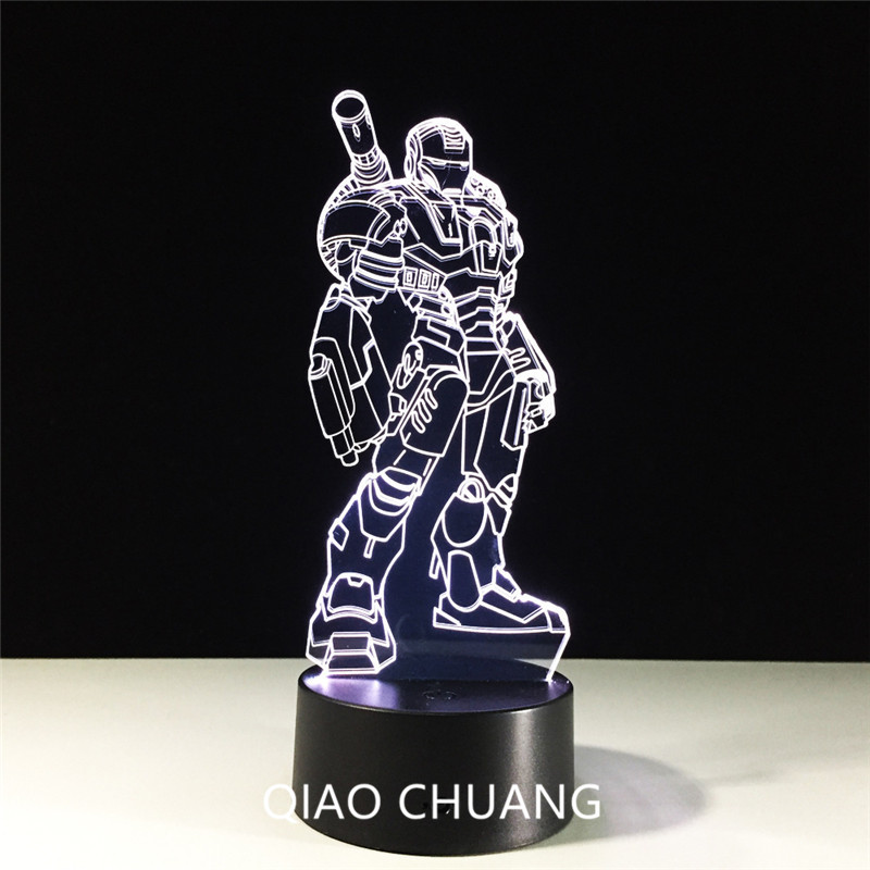 Star Wars Iron Man Justice League Tony Stark Seven Colors Touch Remote Control 3D LED Light Five Colors Bluetooth Sound G288